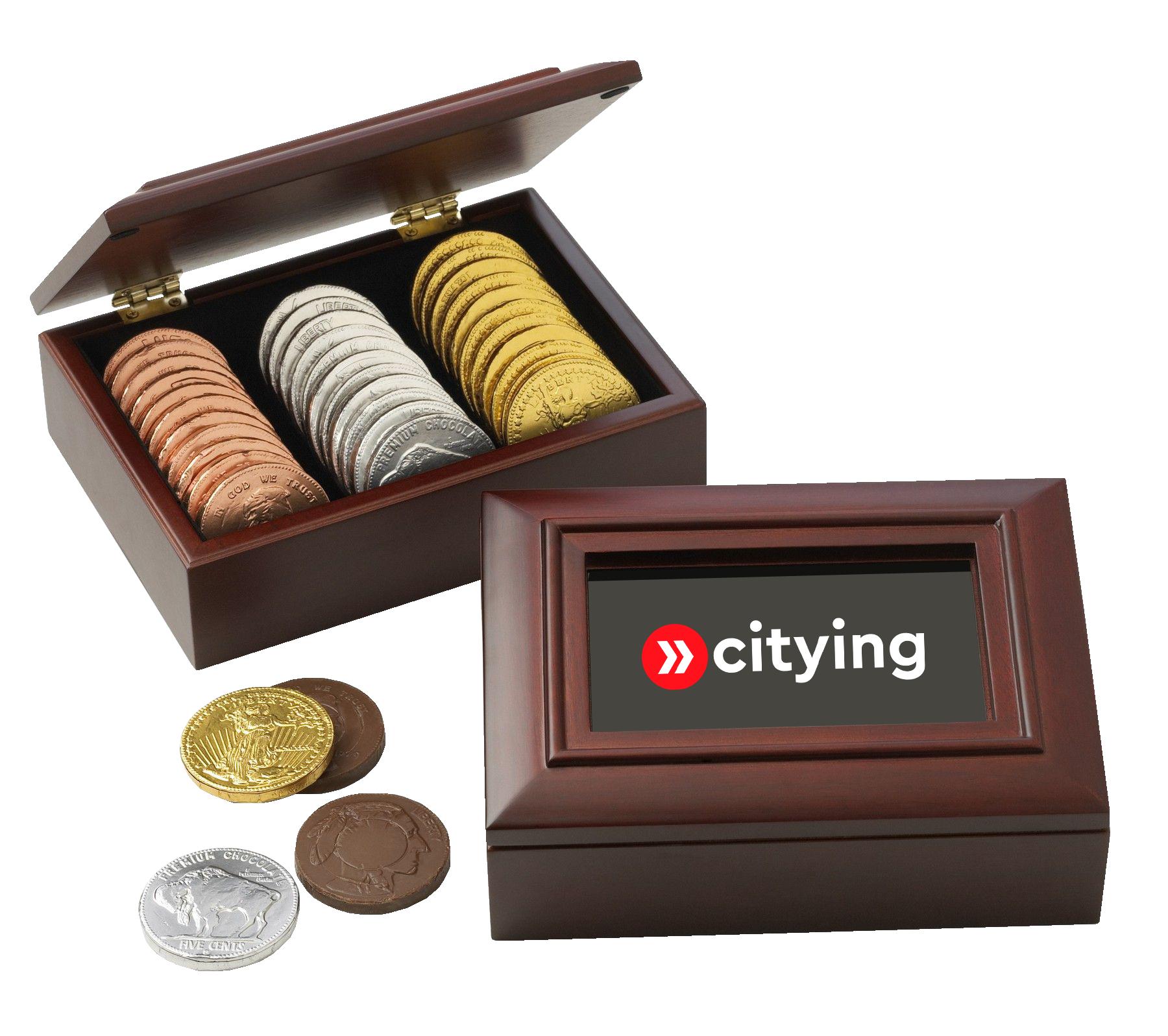 Chocolate Coin Box